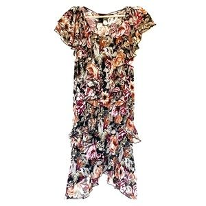 H&M Floral Ruffled Dress Size S